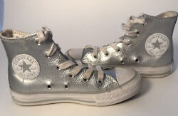 Converse All Star Kids Sneaker Best Color Silver Size 11 $15.00