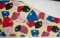 8quot; x 13quot; Poodle Skirts Retro Tossed with EXTRA on Kaufman Cotton Fabric SCRAP $1.74