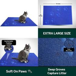 XL Large Cat Litter Box Mat Pad Pet Kitty Clean Easy Cleaning Floor Protecter $28.33