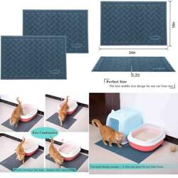 2PCS Large Cat Litter Box Mat Pad Pet Kitty Clean Easy Cleaning Floor Protecter $27.99