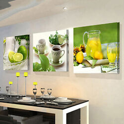 3PCS Canvas Print Photo Wall Art Painting Pictures Kitchen Home Room Decor Fruit $10.73