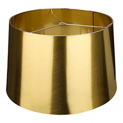 Metal Attachment Process X Large Lamp Shades Alucset Drum Fabric Big Lampshades $50.08