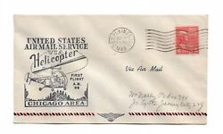 1949 First Helicopter Flight Cover AM 96 18 Flown from Des Plaines Illinois $1.39
