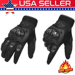 Motorcycle Gloves Geniune Leather Winter Touching Screen Full Finger Glove A9P0 $10.79
