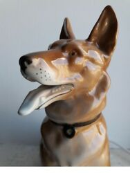 Antiqe 1878 1920 Five Lamp Nightlight Porcelain Shepherd Dog ERNST BOHNE SONS $230.00