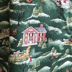 """1.5 Yds Vintage Christmas Novelty Print Cotton Fabric Marcus Bros 45"""" Wide $16.00"""