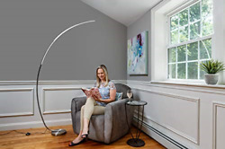 daylight24 402097 15 Arc LED Floor Lamps Silver $180.71