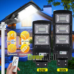 990000LM Commercial LED Solar Street Light Radar Induction PIR Outdoor LampPole