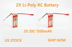 2x ZOP 7.4V 1500mAh 2S 20C T For RC Battery Quadcopter Racing Car Truck Drone US $21.61