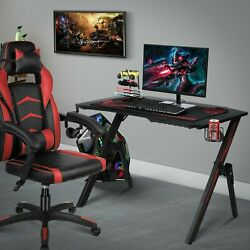 "43"" Ergonomic Gaming Desk Computer Racing Style Gaming Table Gamer Workstation $69.99"