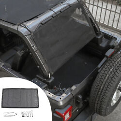 Rear Trunk Sunshade Cover Net Mesh Bikini for 4 Door Jeep Wrangler TJ JK JKU JL $35.59