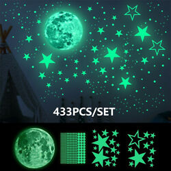 435Pcs Glow In The Dark Luminous Stars Moon Wall Stickers Planet Space Decal NEW $8.88
