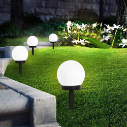 Outdoor LED Solar Round Ball Light Garden Yard Patio Ground Lawn Lamp Waterproof
