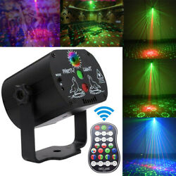 LED RGB Laser Light Projector Stage Lamp Party KT DJ Disco Bar Lights 60 Pattern $22.99