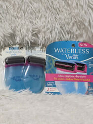 X 2 Gillette Venus Waterless Razors Shave Anytime Without Water 2 pk 4 Razors $19.99