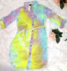 Large tie dye dress for Women Multicolor spring trendy dresses sexy hot style $24.99