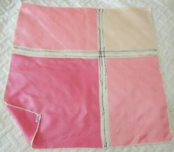 VERA Vintage Shades of Pink 22quot; Square 100% Silk Scarf NWOT $14.99