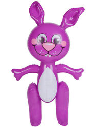 Large 24quot; Inflatable Purple Easter Bunny Rabbit Holiday Party Decoration $9.98