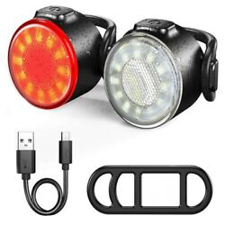 Rechargeable LED Bike Light Set Headlight Taillight Caution Bicycle Safety Lamp $11.39