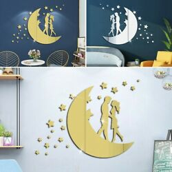 Creative Wall Stickers DIY Decals Home Mirror Moon Removable Room Acrylic C $11.88