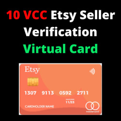 10 VCC Etsy Seller Verification Virtual Card Fast Delivery $2.99