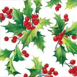 NapkinsPPD Holly Berries Christmas Cocktail for Decoupage 2 napkins $2.00