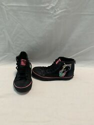 Vans Off The Wall Girls Glitter Unicorn Hightop Shoes size 2 Y $18.00