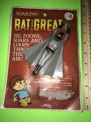 Vintage Batman TOY HONG KONG FIGURE MOC KO SMALLER CLONE OF CLASSIC GLIDER READ $275.00