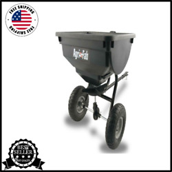Fertilizer Spreader 85 Lb Behind Broadcast Tow Hopper Seed ATV Lawn Tractor Pull $89.52