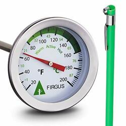 Firgus Compost Thermometer with 20 Inch Soil Probe for Backyard Composting... $29.27