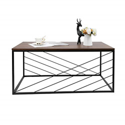 NOZE Industrial Coffee Table for Living Room Mid Century Accent Table for Home $85.44