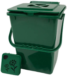 Exaco Eco 2000 Kitchen Compost Pail 2.4 Gallon Basic Green $31.99