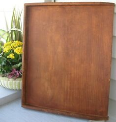 ANTIQUE WOODEN NOODLE BOARD W 3 SIDES NICE MEDIUM SIZE $195.00