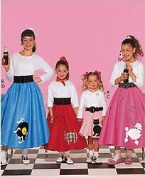 RETRO ROCK amp; ROLL POODLE SKIRTS COSTUME SEWING PATTERN GIRLS XS S M L $7.22