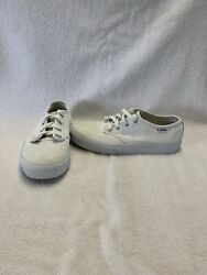 Vans Off The Wall Girls White iridescent Shoes size 4 Y $18.00