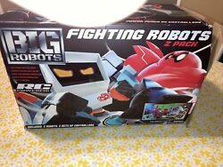 BIG ROBOTS Fighting Robots 2 Pack 2 RC Powered Robots amp; 2 Real Time Controllers $70.00