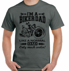 Biker Dad Mens Funny Motorbike Motorcycle Father#x27;s Day Bike Xmas I#x27;m A HOT $11.99