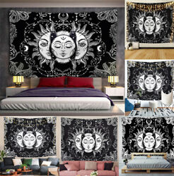 USA Sun and Moon Tapestry Mandala Indian Tapestry Hippie Wall Hanging Home Decor $18.99