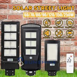820000LM Commercial LED Solar Street Light PIR Sensor Dusk to DawnRemotePole