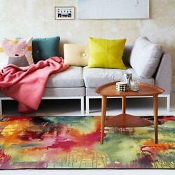 Multicolor Area Rugs for Bedroom Modern Abstract Carpets Illusion Large Cute Rug $109.99