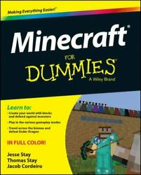 Minecraft For Dummies Jesse Stay Good Book 0 Paperback $8.59