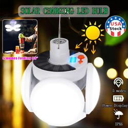 USA Solar LED Torch USB Rechargeable Night Light Outdoor Camping Lamp Emergency $14.99