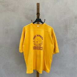 Vintage 70s Sport T by Stedman Road Runners Rhodes Cotton T Shirt Fits L XL $25.00