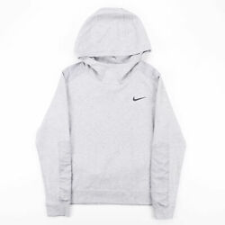NIKE Grey Sports Pullover Hoodie Mens S