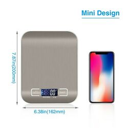 Stainless Steel Digital Weight Scale Electronic Kitchen Food Postal 5KG 11LBS $7.98