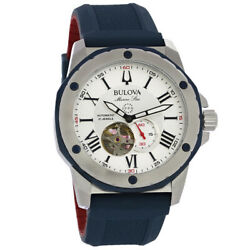 Bulova Marine Star Mens Stainless Steel Automatic Watch 98A225 $357.00