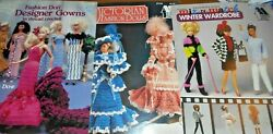 PA169 Lot of 3 Fashion Doll Crochet Patterns: Designer Gowns Victorian Winter W