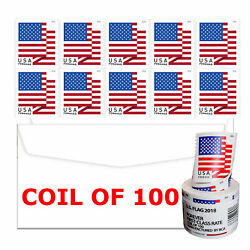 Roll of 100 Stamps USPS 2018 US Flag Forever Postage Stamps Free amp; Fast Shipping $31.34