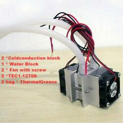 DIY kits Thermoelectric Peltier Refrigeration Cooling System Water cooling fan $21.29