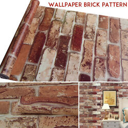 10M 3D Wallpaper Brick Pattern Self adhesive Roll Stone Stickers Décor for Home $10.62